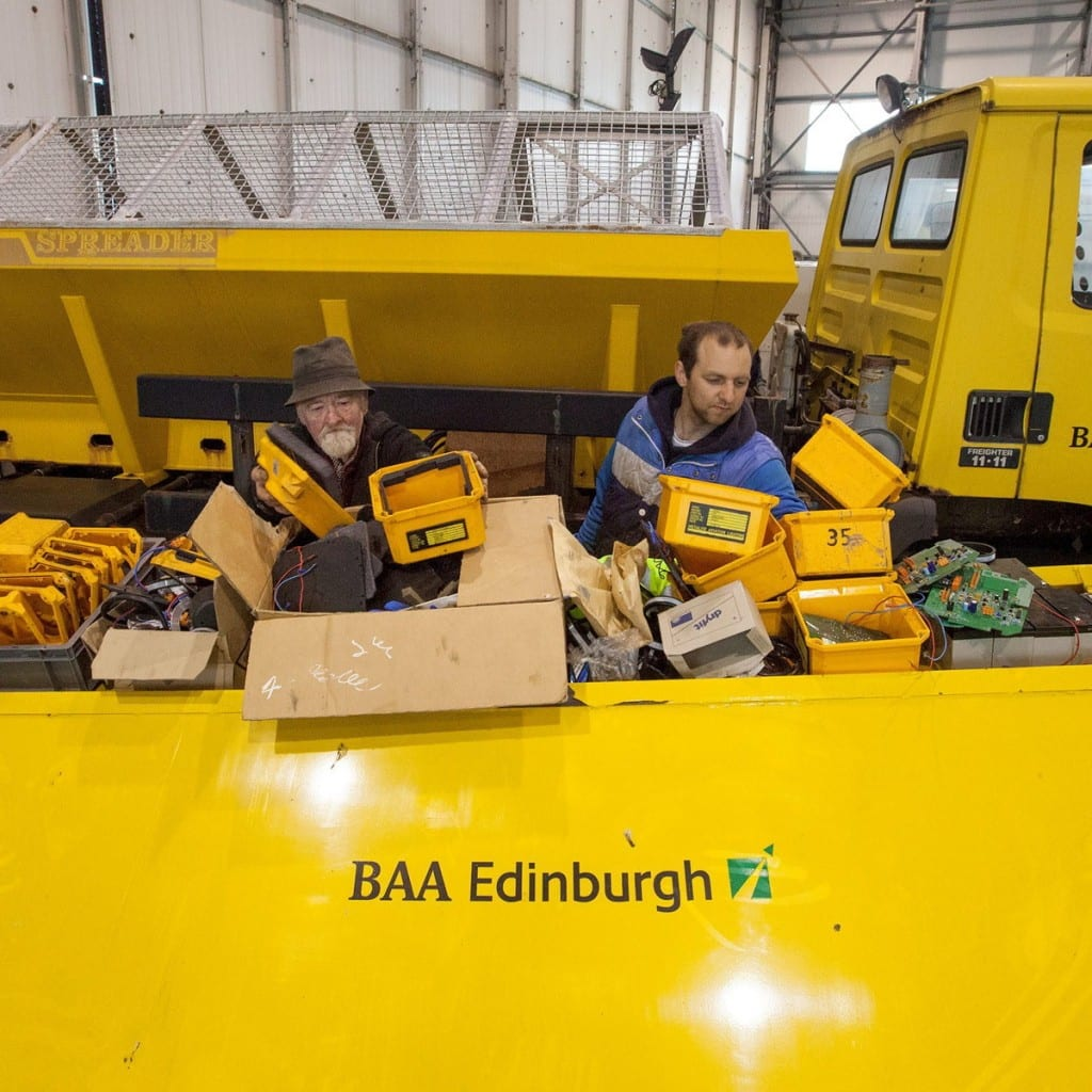 Airport Gritter Items from Edinburgh Airport are to be sold at auction by Wilsons Auctioneers on 6 May. Everything from a fire engine to security trays. May 5 2015  See Centre Press story CPSALE