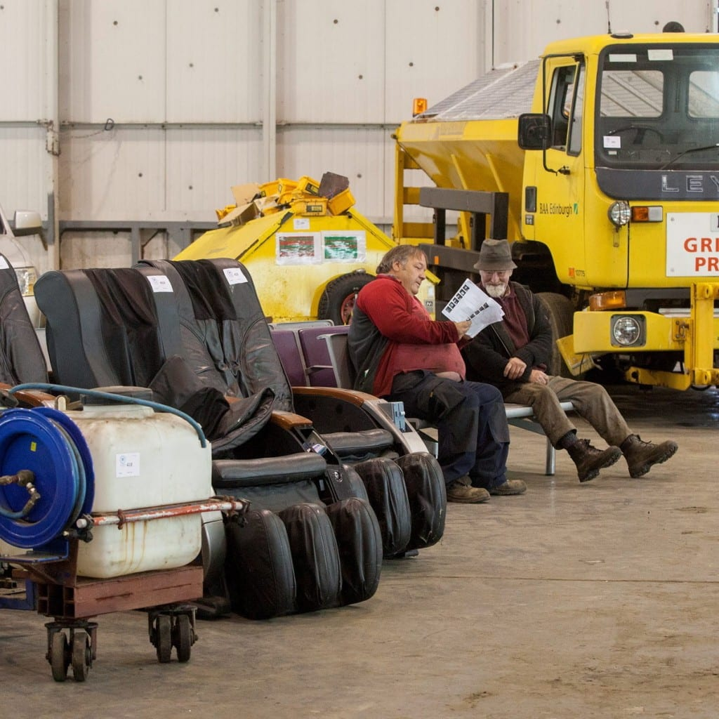 Airport Gritter and seating. Items from Edinburgh Airport are to be sold at auction by Wilsons Auctioneers on 6 May. Everything from a fire engine to security trays. May 5 2015  See Centre Press story CPSALE