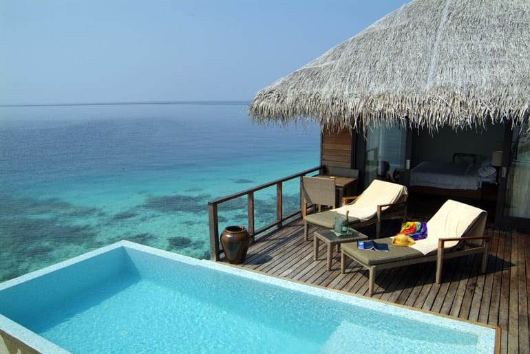 Coco Bodu Hithi's water villas