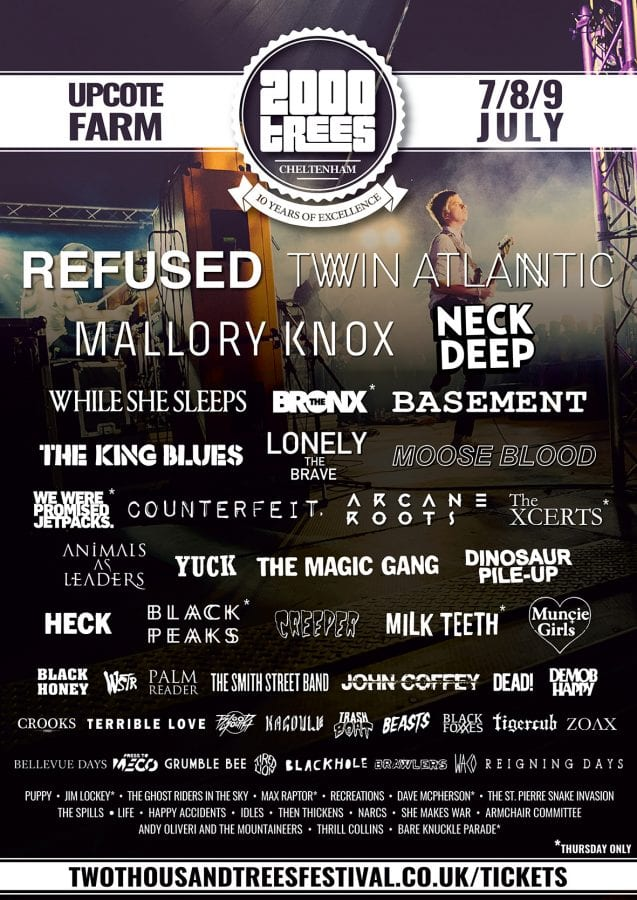 2000trees lineup