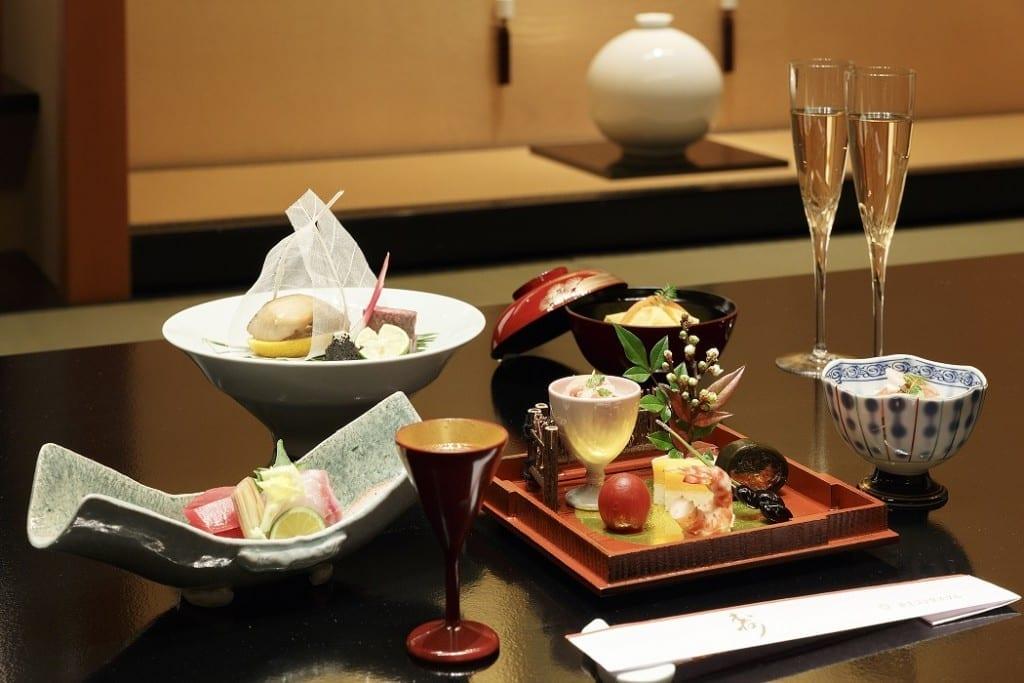 Japanese kaiseki restaurant, Soujuan, at Keio Plaza Hotel