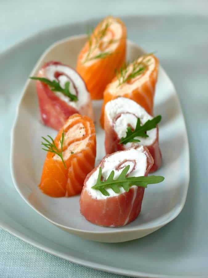 How to make the perfect smoked salmon air dried ham for Smoked salmon roulade canape