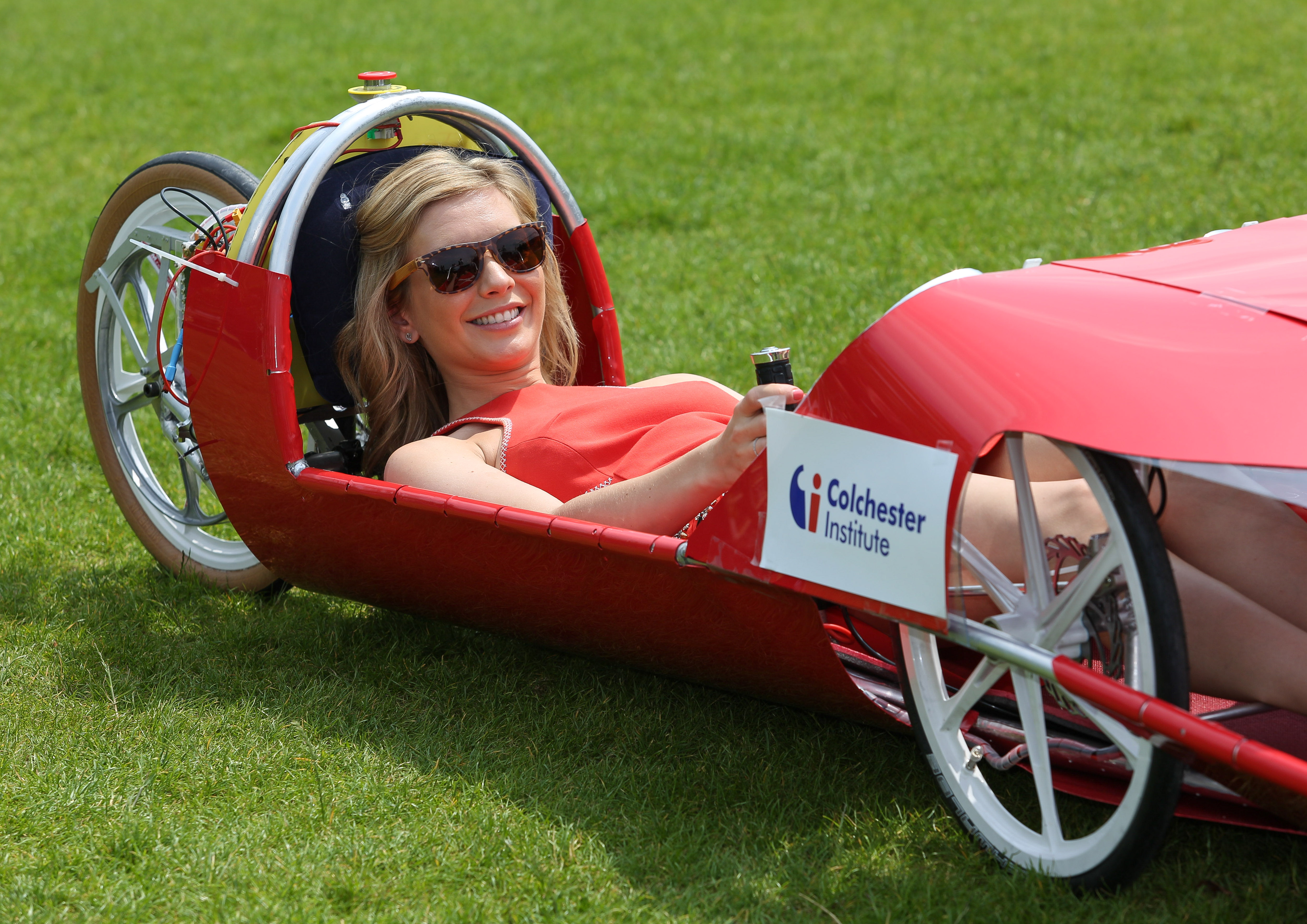 Rachel Riley in car of the future