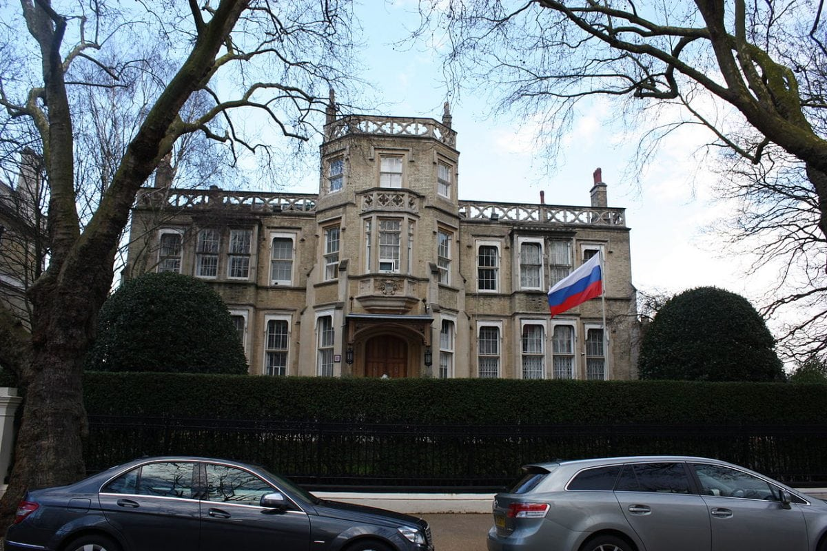 Right! The embassy of the russian can