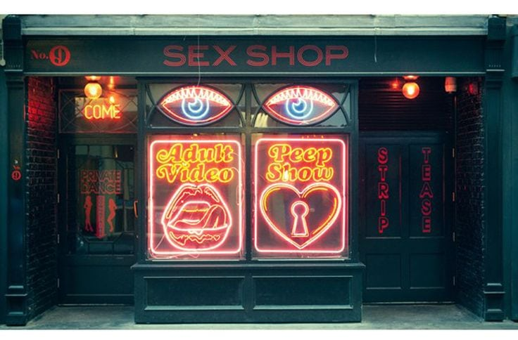 Mexican Food hidden in Soho Sex Shop