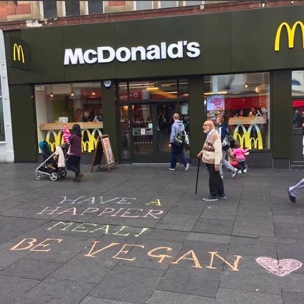 The Midland Vegan Chalking team, Leicester, UK
