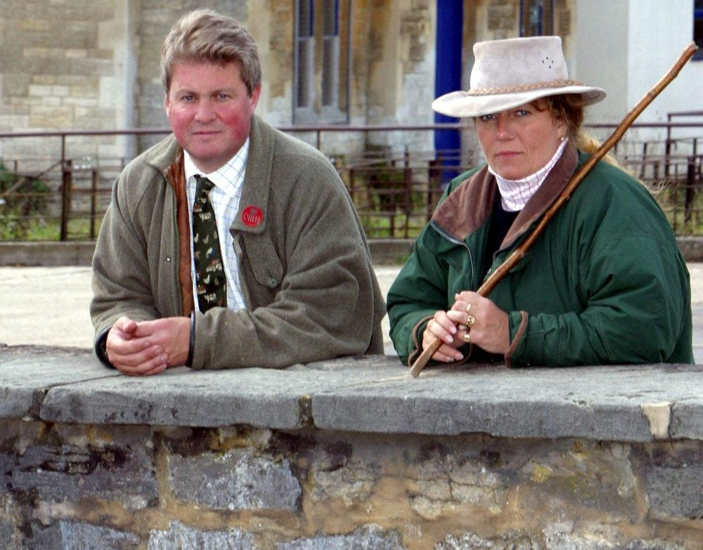 "Lord and Lady Allen and Sara Bathurst at their home on the Bathurst Estate, Cirencester. (file picture)See SWNS story SWGUN; One of Gloucestershire's most prominent civic figures has said 'no offence was meant' as she faces calls to step down over a tweet labelling the NHS a 'disgrace'. Lady Sara Bathurst, who is High Sheriff of Gloucestershire this year, lambasted the health service for informing her a £40 fee would apply for a medical reference she needs in order to obtain a firearms licence. She posted a picture of a letter received from her doctor's surgery on the social network, and wrote: ""My doctors surgery have just demanded £40 - blackmailing me into paying them to give police a medical reference for gun licence. #disgrace"""