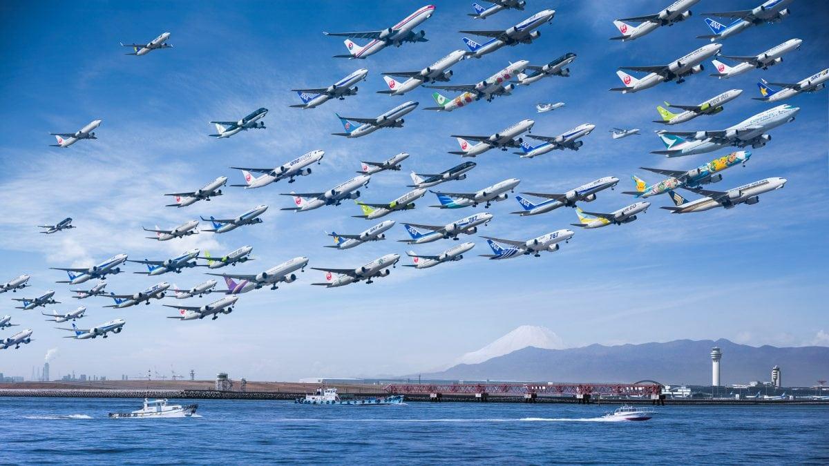 Tokyo's Haneda Airport composite by Mike Kelley.