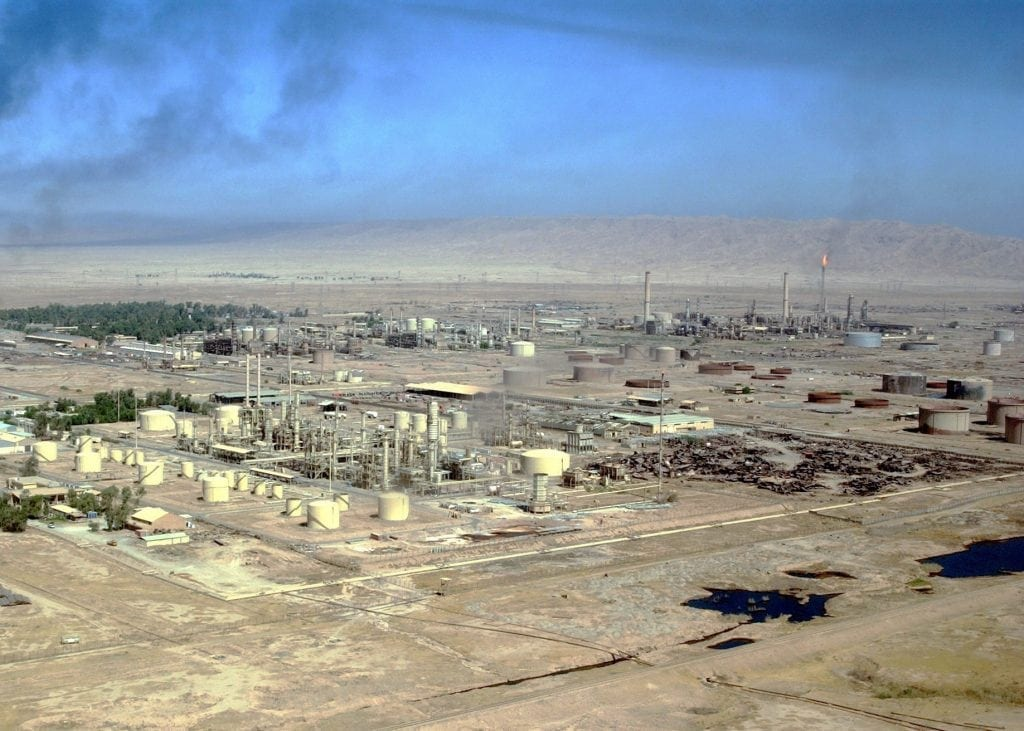 This is an aerial view of the Electrical Power Generation Plant, located in Bayji, Salah Ad Din Province, Iraq (IRQ), during Operation IRAQI FREEDOM.