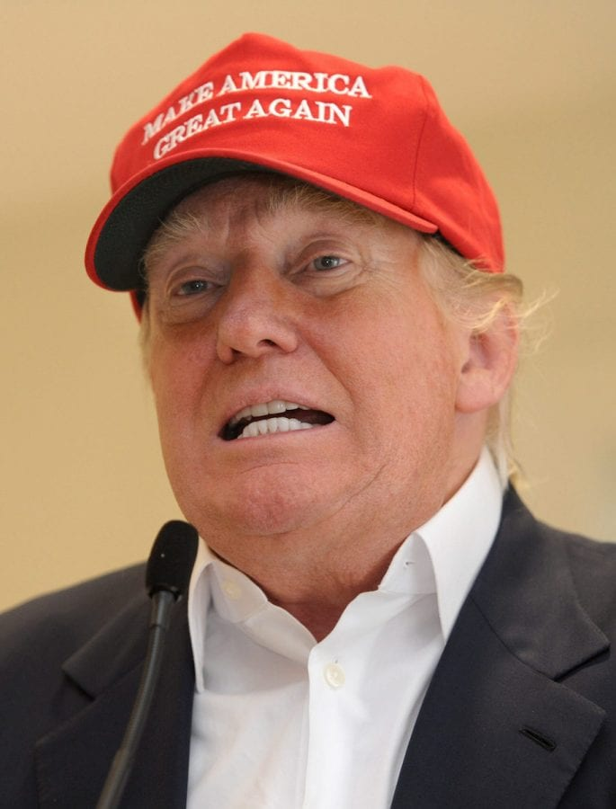 FILE PICTURE - American presidential candidate Donald Trump at his golf course Trump Turnberry, Ayrshire, Scotland, July 30, 2015. See Centre Press story CPTRUMP; Donald Trump wants a Director of Revenue for his Trump Turnberry resort - in a rambling jargon-strewn advert blasted by plain English campaigners.