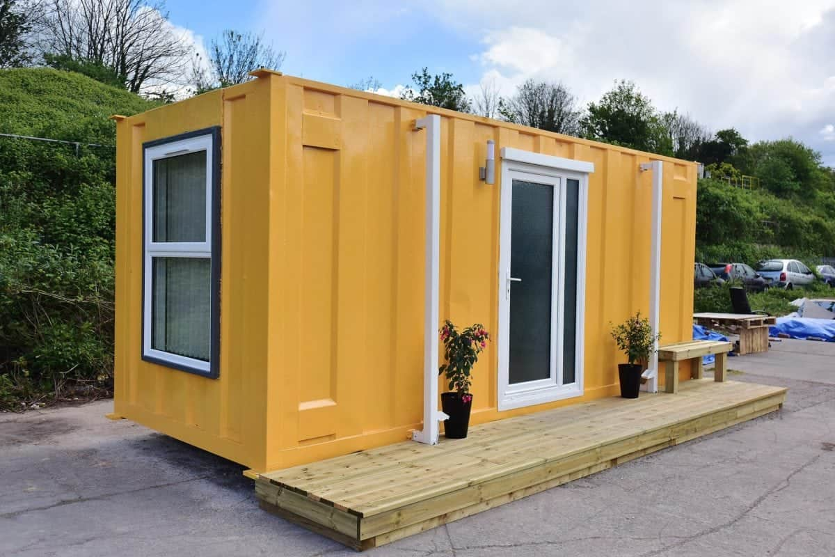 Shipping container converted to plush accommodation for homeless people the london economic - Container homes london ...