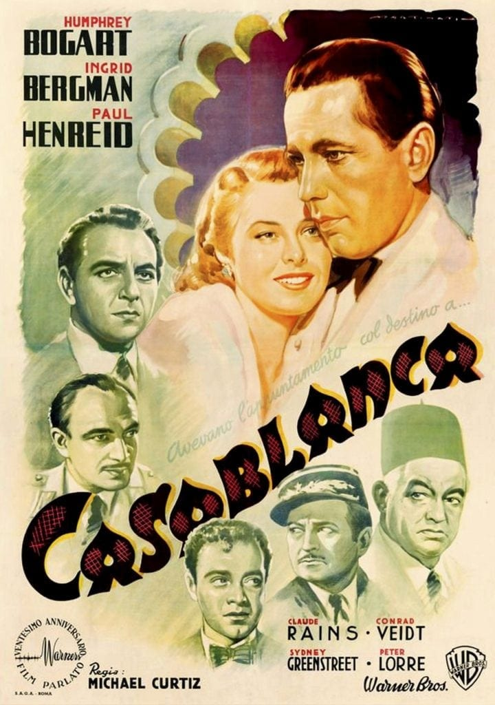 Casablanca movie poster original