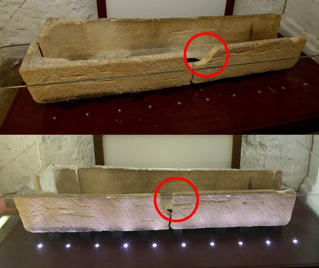 Museum visitor damages 800-year-old coffin for a photo