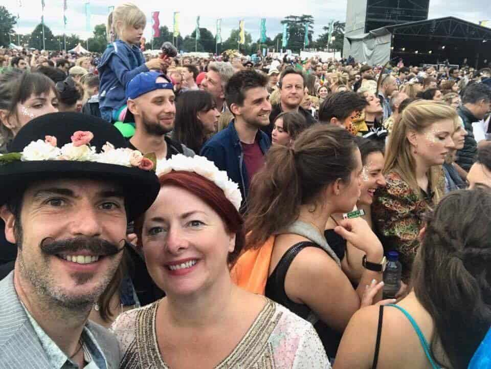David Cameron photobombs selfie at Wilderness festival