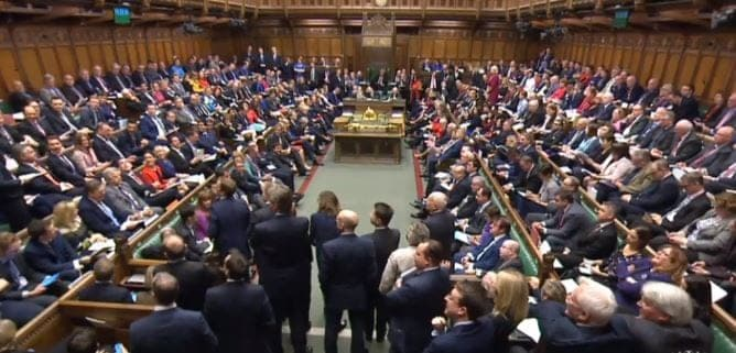Tory MP's standing during PMQs