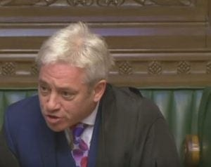 John Bercow Speaker of the House