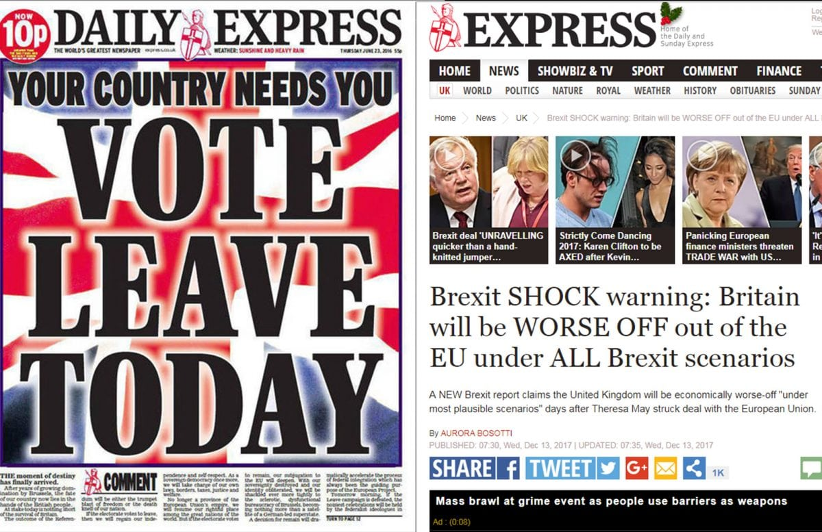 Brexit News: The Express Backtracks On Brexit