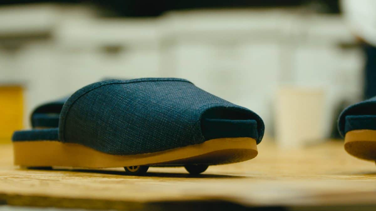Nissa has developed slippers that 'park' themselves, because why not?