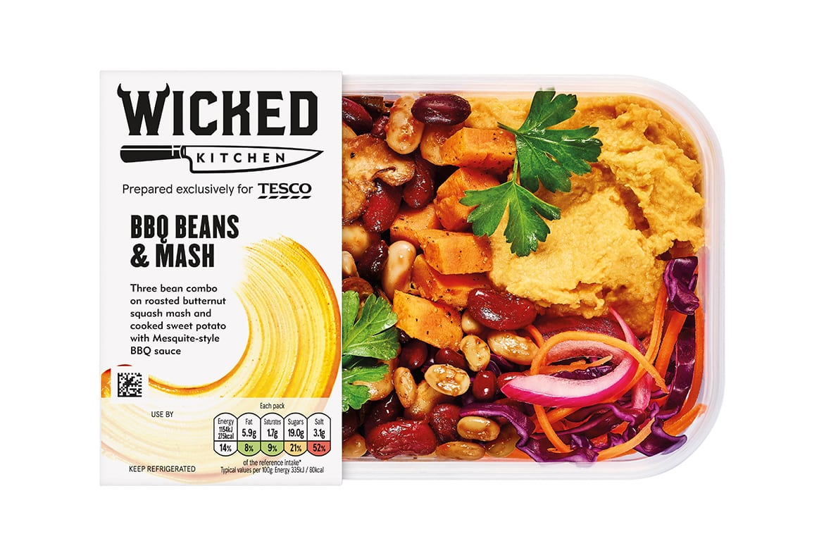 Tesco Wicked Kitchen BBQ Beans & Mash