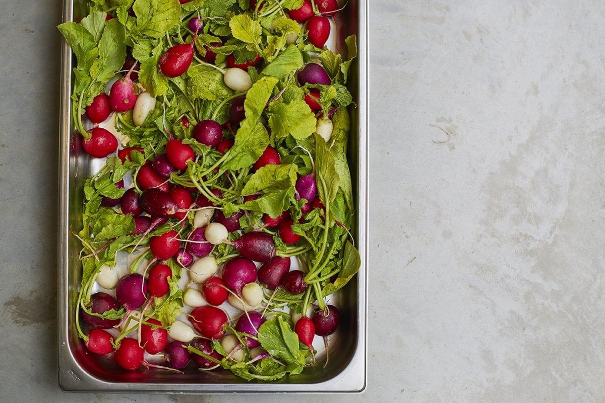 Garden Café radishes