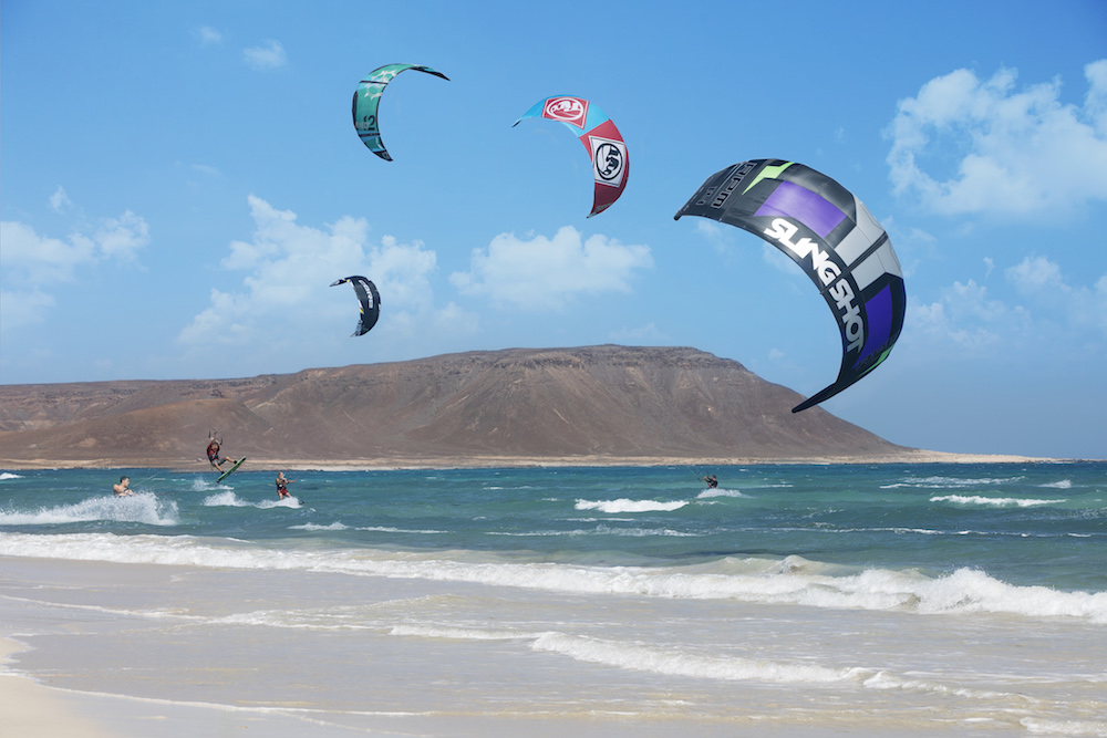 Kitesurfing on Kite Beach