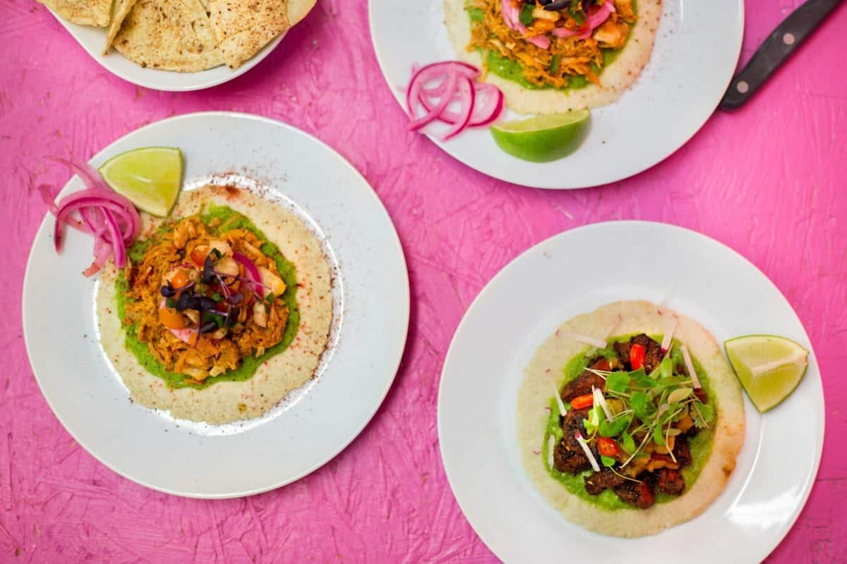 London's first vegan pub - Club Mexicana tacos