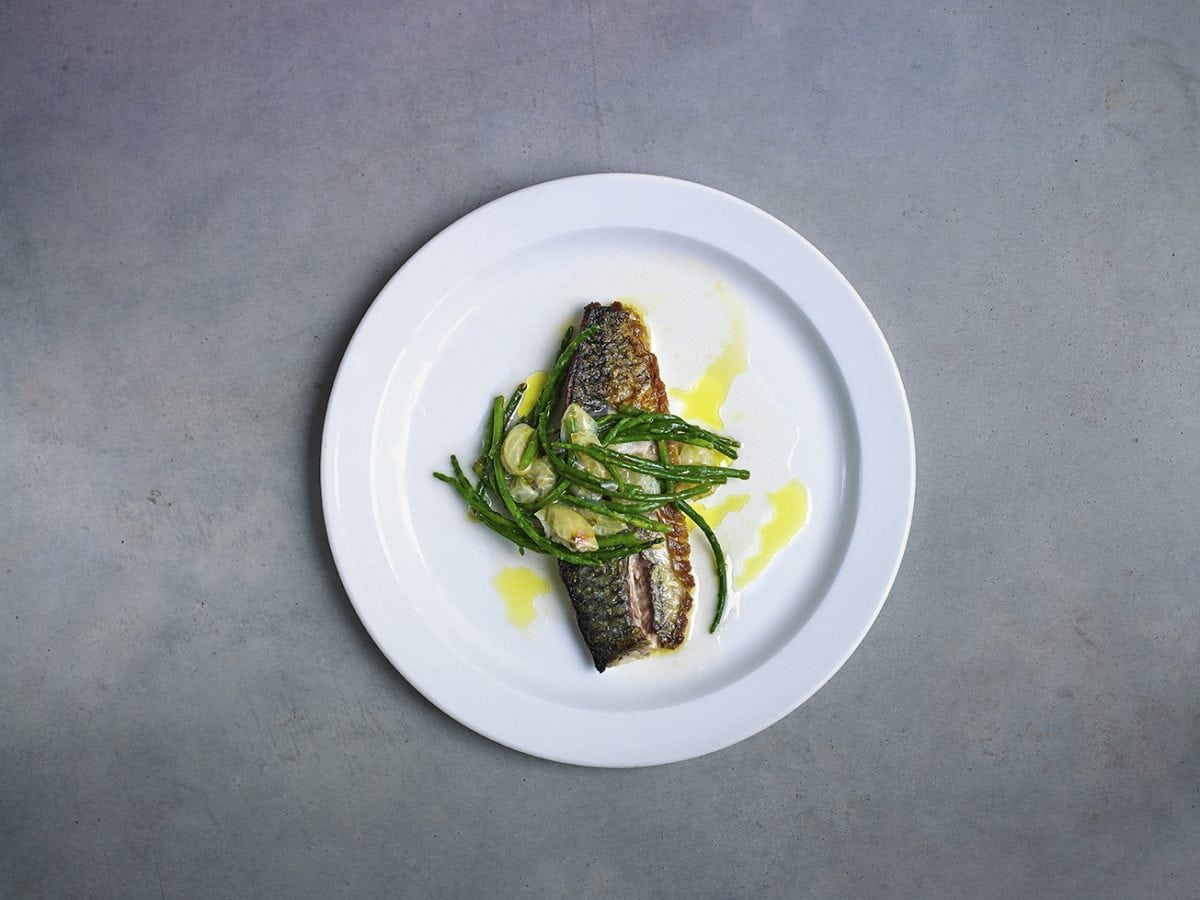 The Garden Café skate wing with samphire