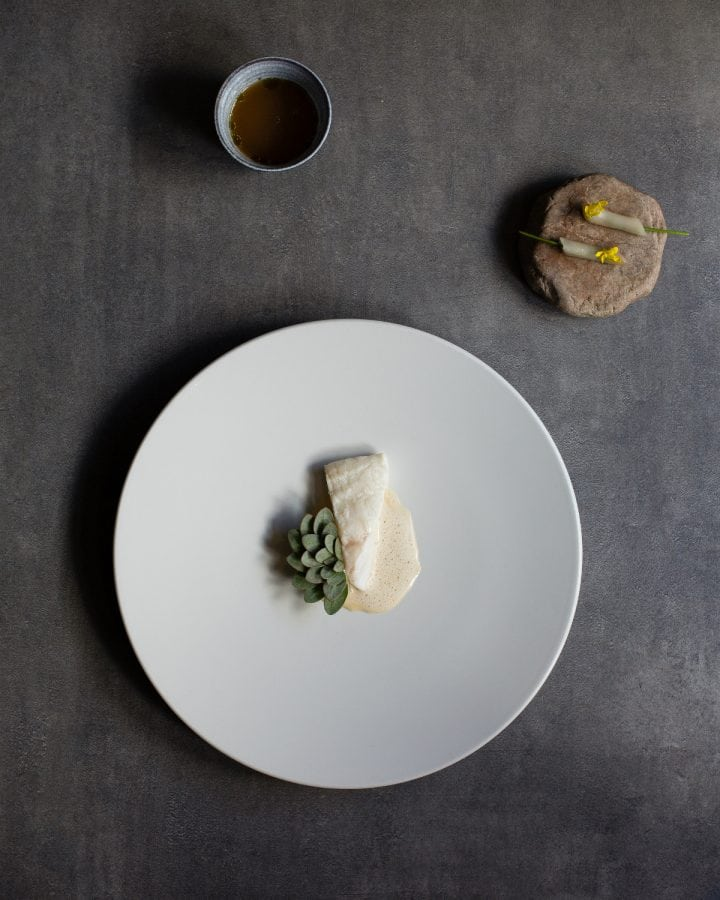 Killian Crowley Turbot, Kohlrabi, Sea Purslane