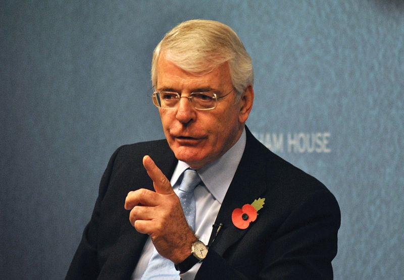 John Major calls for Commons vote on second referendum