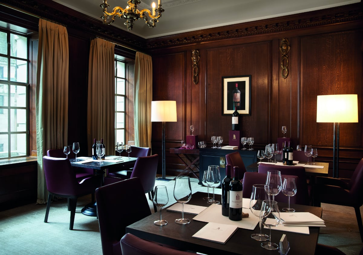 Ten Trinity Square Château Latour Dining Room