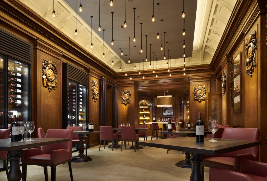 Château Latour Discovery Room at Ten Trinity Square, London.