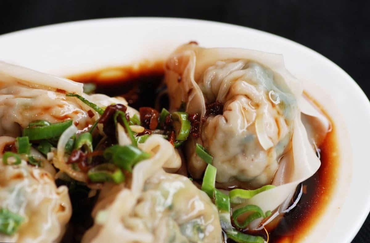 Chicken dumplings (with vinegar and chili oil) Credit Rasa Sayang Chinatown