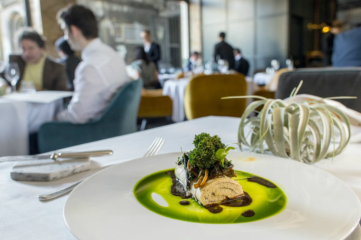 Club Gascon Cep pie, wild mushroom and parsley oil - best French restaurants in London