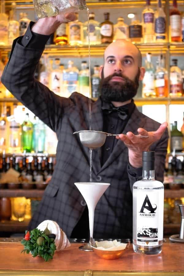 Francesco Gibson Arbikie Gin Martini