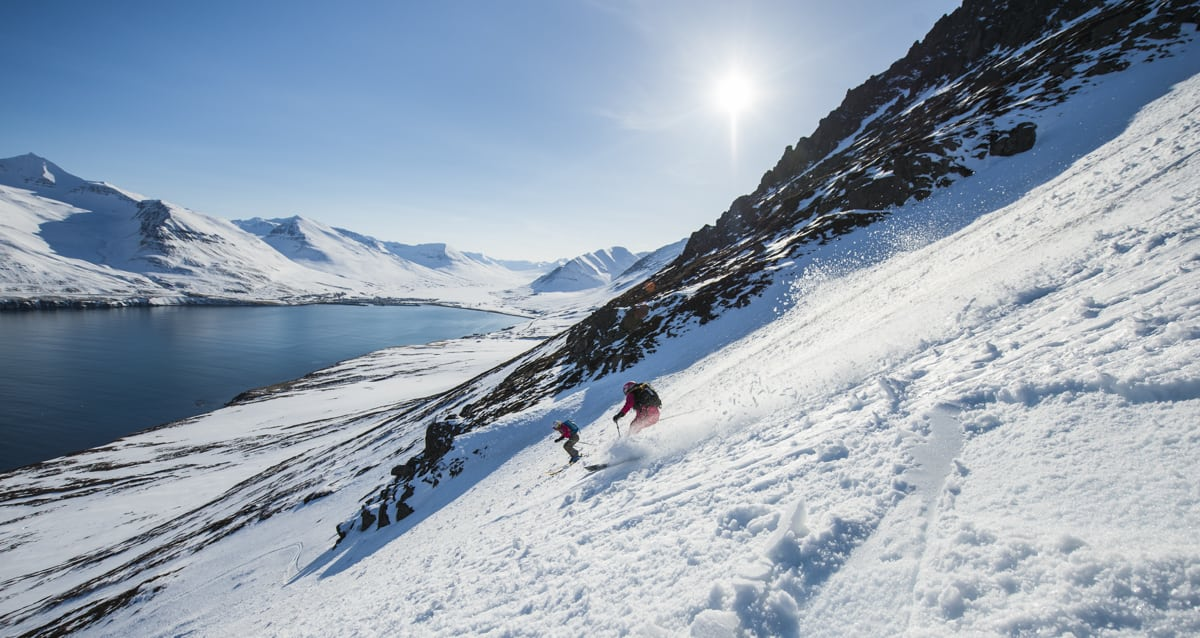 Skiing in North Iceland