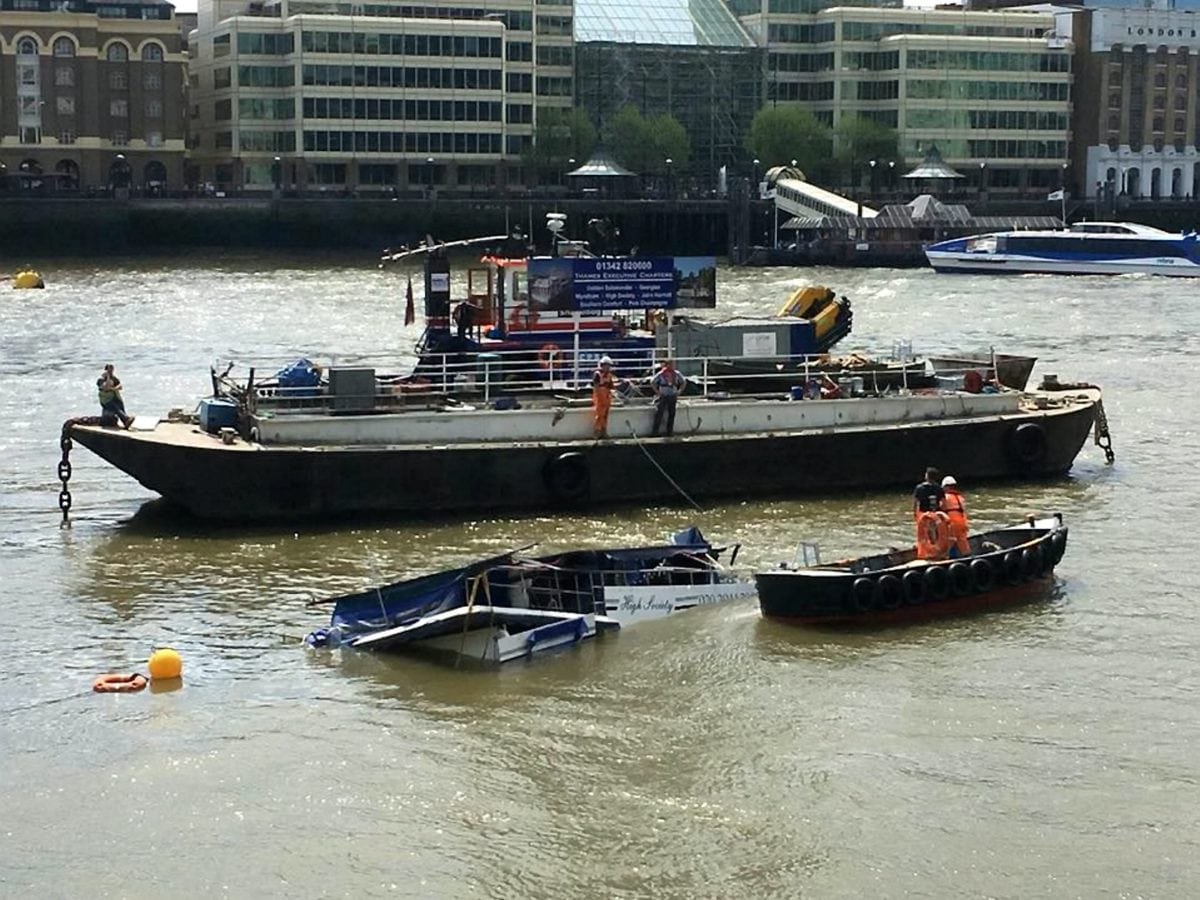 Posh Party Boat On Thames Sprung A Leak And Sank