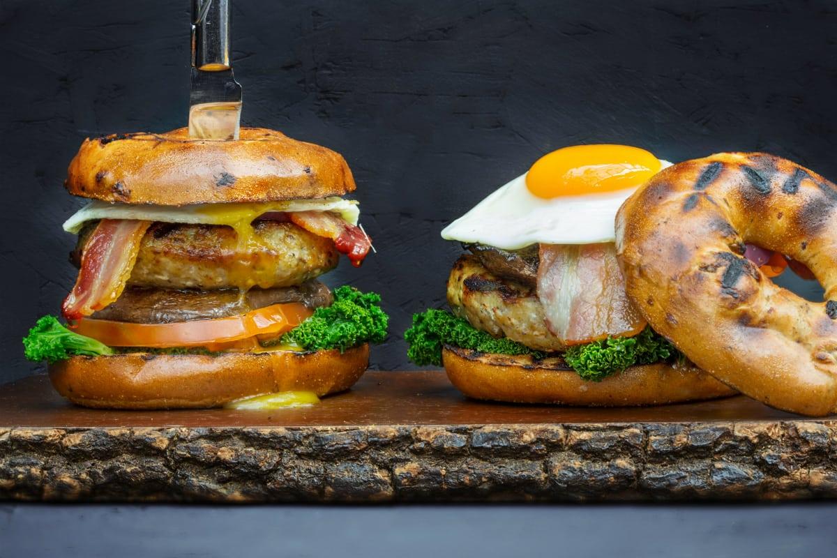 Roast Restaurant Ultimate Breakfast Burger
