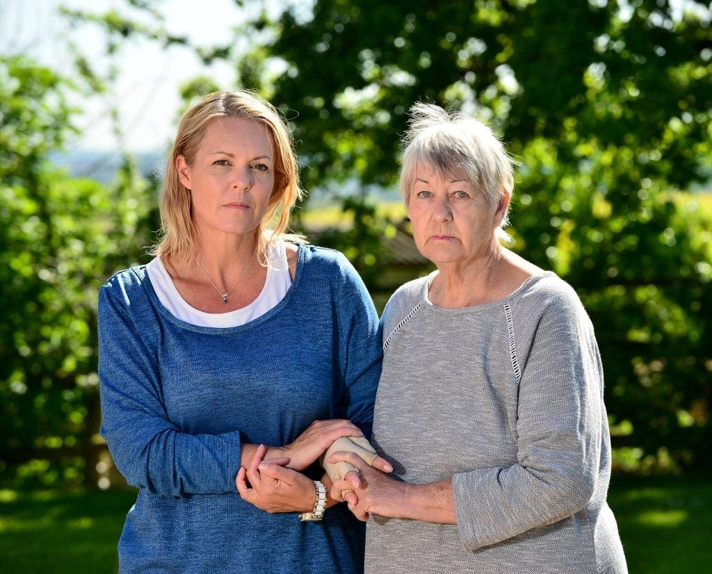 "Pictured with daughter Candice Gordon, 45, Grandmother and distant cousin of the Queen, Brenda Ackerman, 71, from Worcestershire has been left facing imminent deportation following a long fought battle with the home office to remain in Worcester, despite her deteriorating health condition and her family all being British citizens. See NTI story NTIROYAL. A grandmother who is 18th cousin of the Queen is facing being deported back to South Africa after she was refused a visa to live in the UK. Brenda Ackerman, 71, traced her family tree back to the 12th Century which revealed her to be a distant relative of King John James 1st and Robert the Bruce. Mrs Ackerman was born in South Africa but fled in 2006 with her husband Brian after a string of burglaries. They moved to Dubai to be with their daughter Candice Gordon, 45, before finally settling in the UK in 2013 following the death of Mrs Ackerman's husband Brian. Last February, Mrs Ackerman applied for a long-term visa but it was turned down, despite her suffering from a pulmonary embolism and being in failing health. Mrs Ackerman's daughter has been granted permission to remain in the UK but the widow has now been informed she will be deported unless she returns to South Africa voluntarily. Mrs Ackerman, who currently lives with her daughter in Worcester, said: ""My descendants were British."