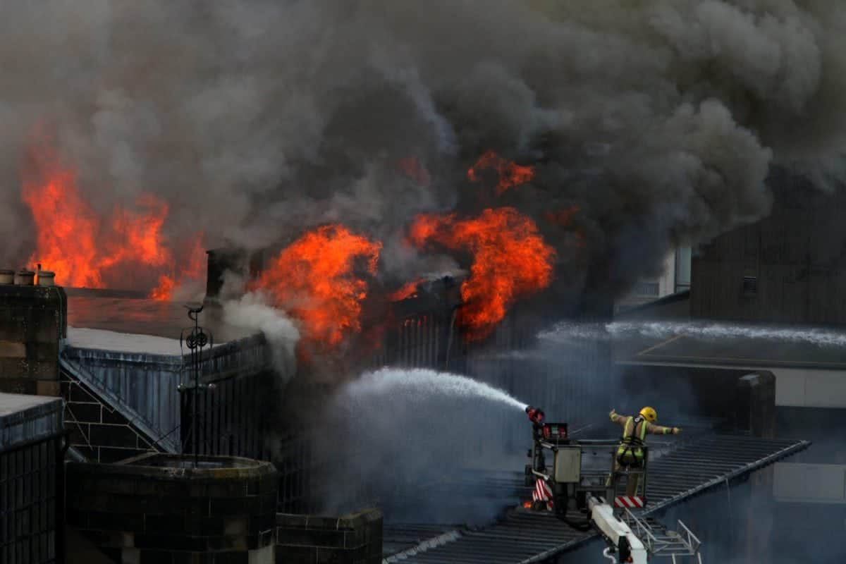 Huge Fire Causes Extensive Damage to Glasgow School of Art