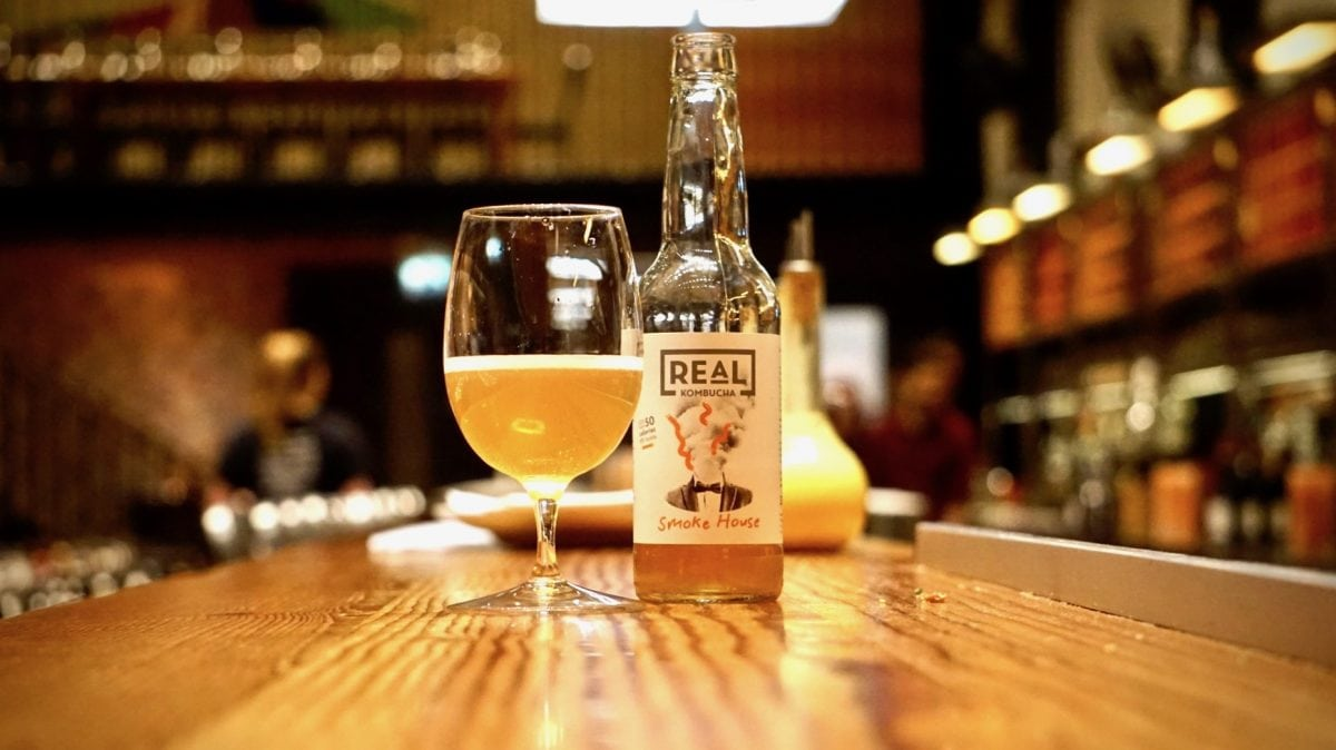 Real Kombucha Booch on the bar at Tramshed 2