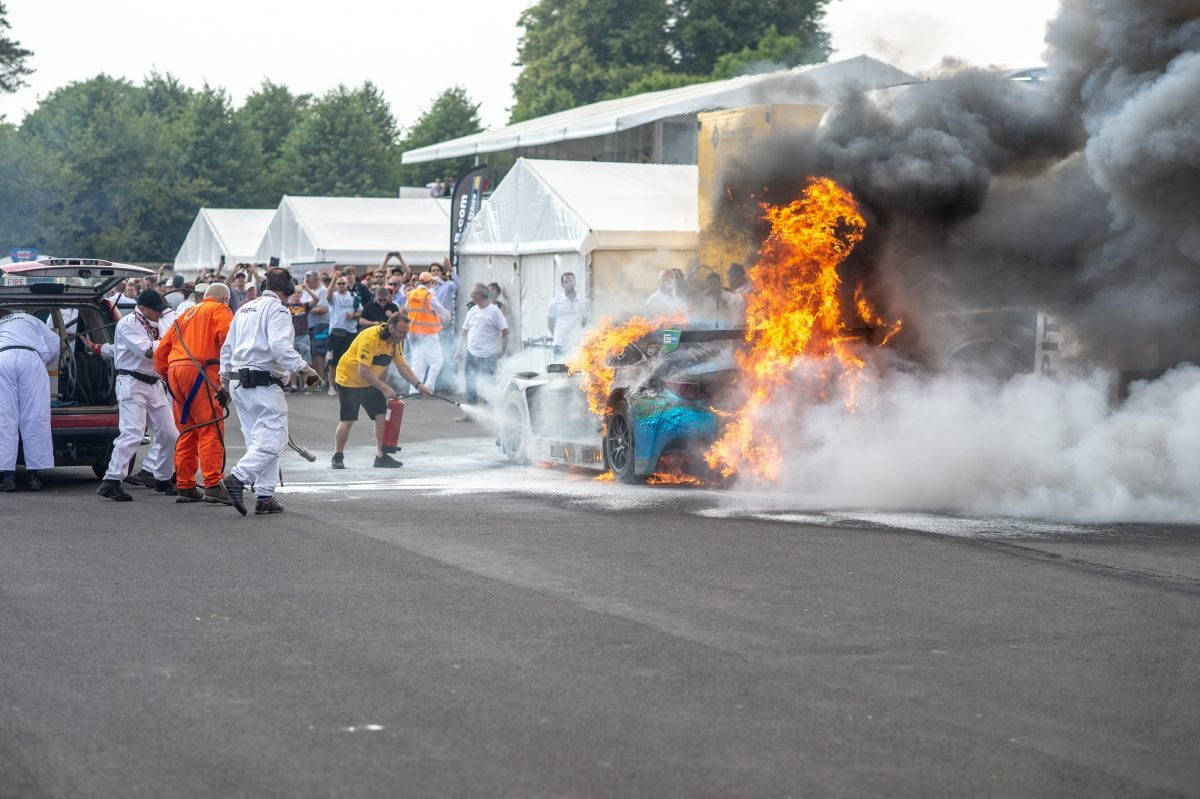 Lexus Supercar Catches Fire At The Goodwood Festival Of Speed