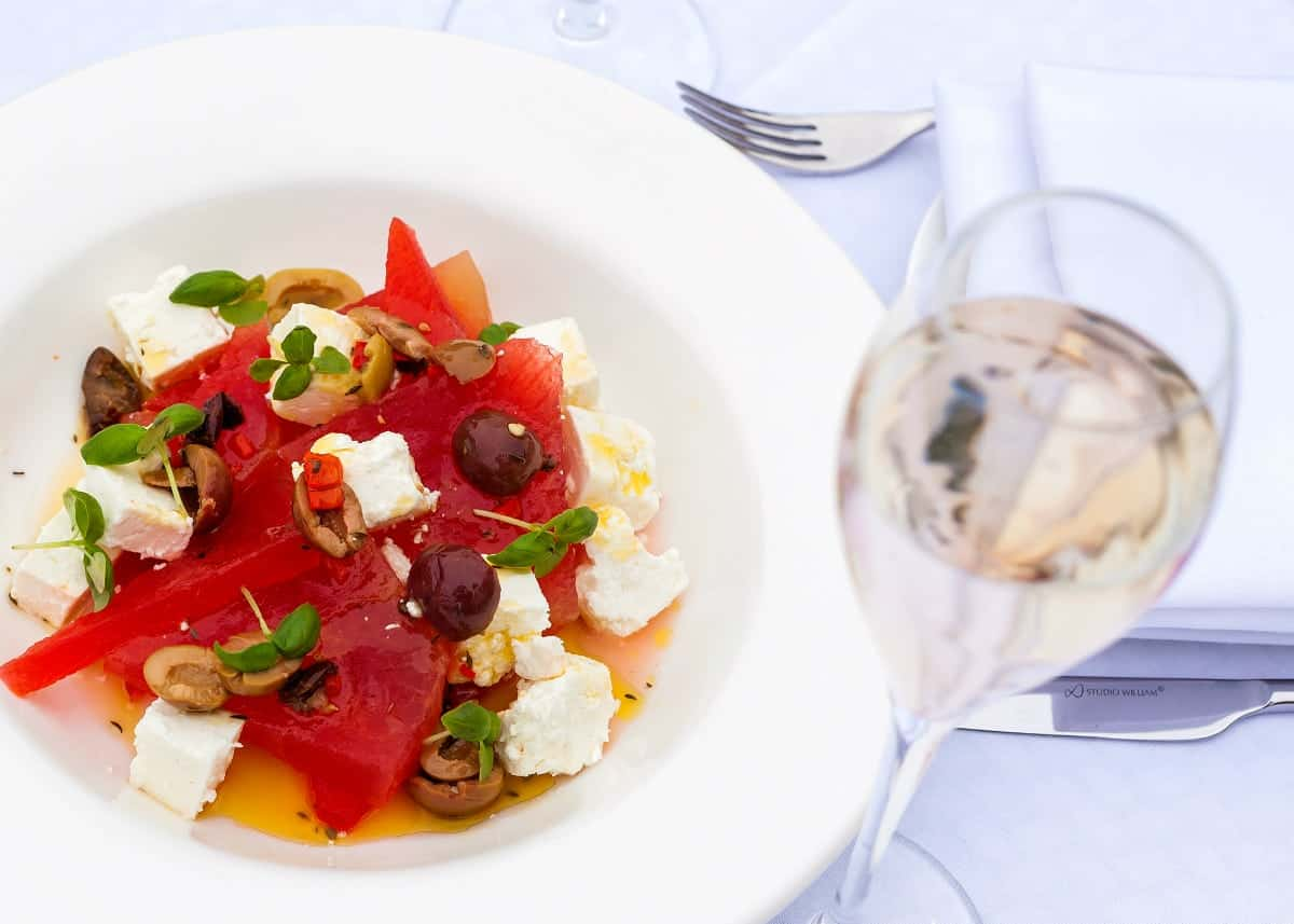 Watermelon Salad at Sopwell House by Executive Head Chef Gopi Chandran 2