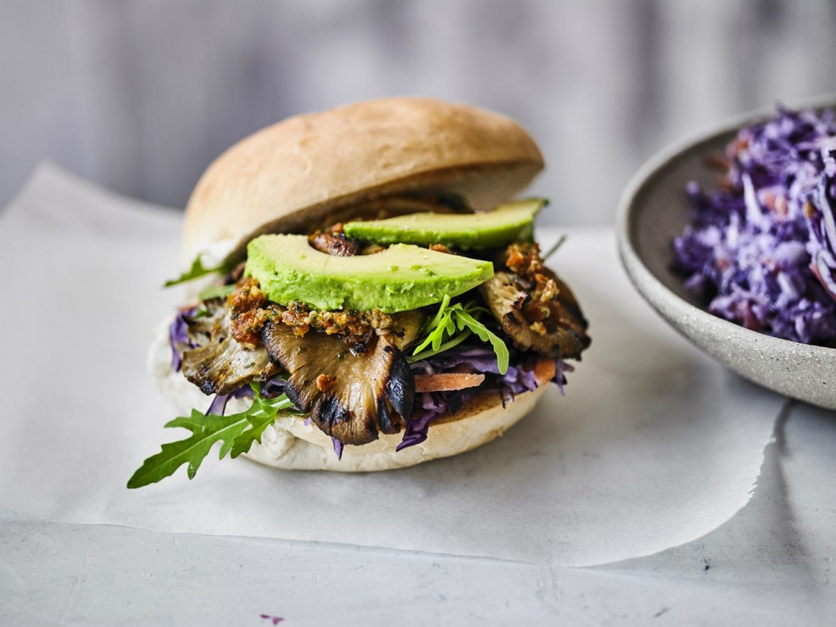 Vegan Mushroom Burgers Vegan Coleslaw National Burger Day