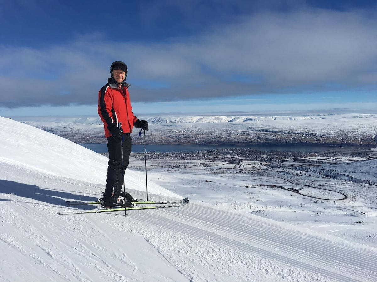 Skiing in Northern Iceland