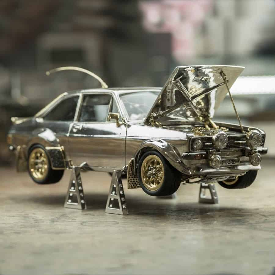 8f44adb20 Jeweller spends fortune & 25 years making Ford Escort model from ...