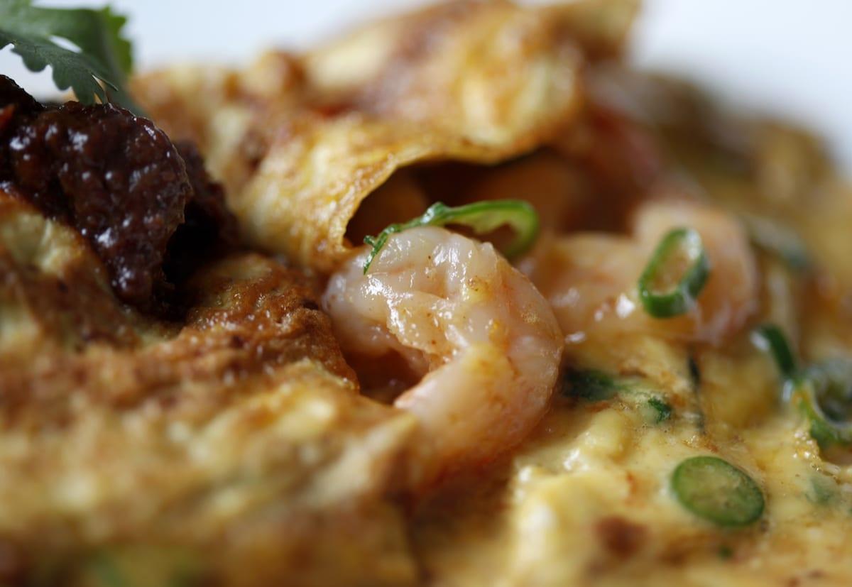 The Modern Pantry Prawn Omelette