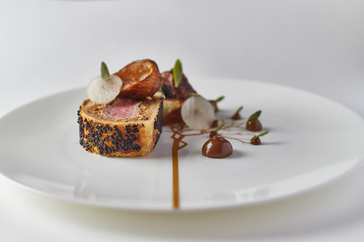 Adam Handling Lamb Wellington | Photo: Tim Green new restaurant openings