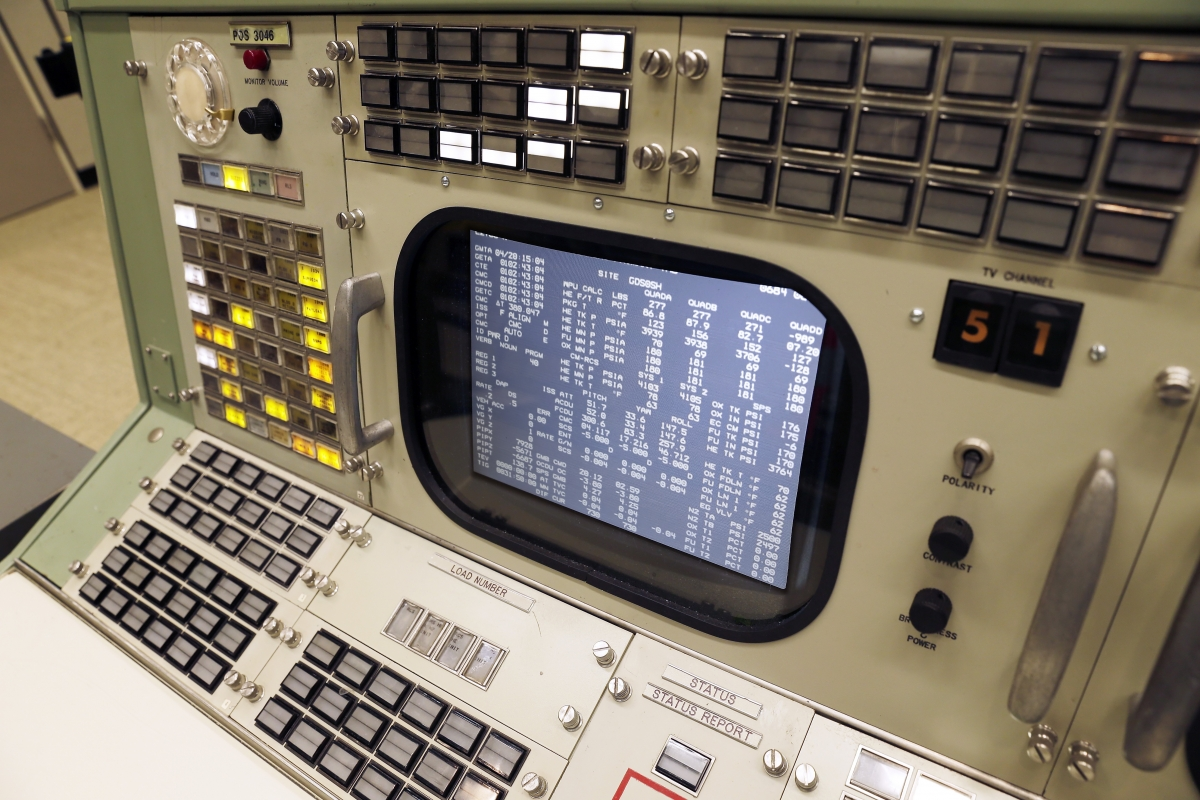 Simulated telemetry data on a console